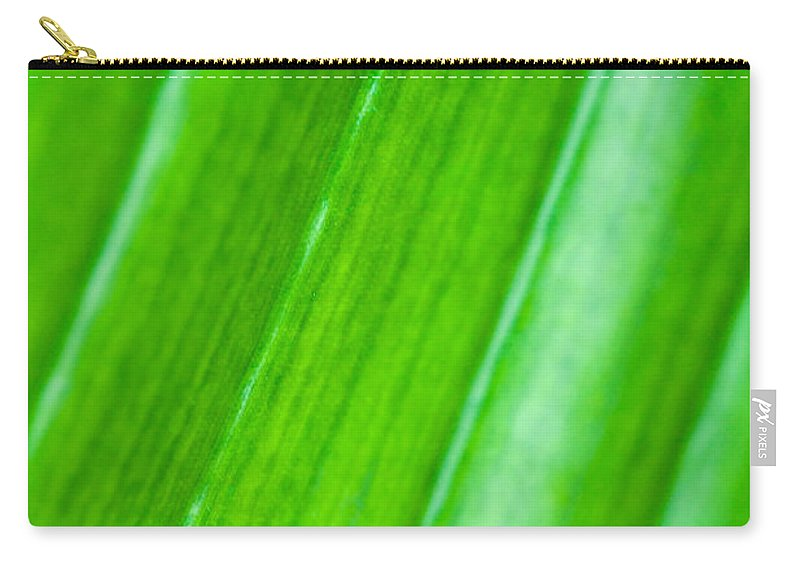 Abstract Carry-all Pouch featuring the photograph Green Abyss by Sebastian Musial