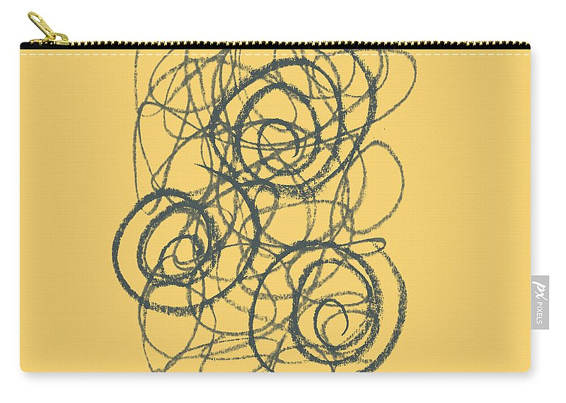 Green Carry-all Pouch featuring the painting Green And Gold 2 by Julie Niemela