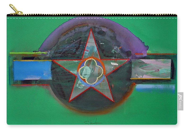 Star Carry-all Pouch featuring the painting Green And Violet by Charles Stuart