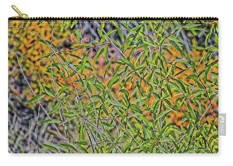 Green Carry-all Pouch featuring the photograph Green And Yellow by Charles Muhle