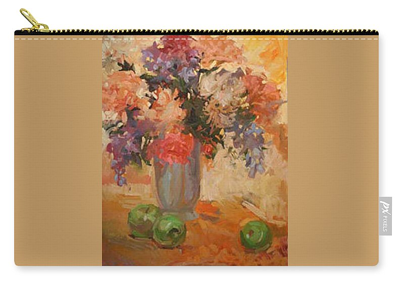 Still Life Carry-all Pouch featuring the painting Green Apples by Betty Jean Billups