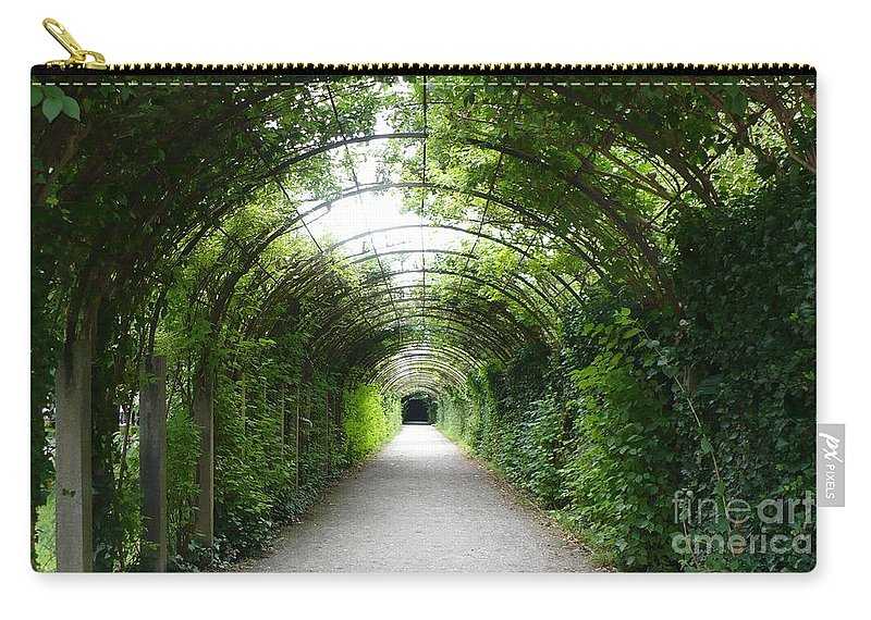 Arbor Carry-all Pouch featuring the photograph Green Arbor Of Mirabell Garden by Carol Groenen