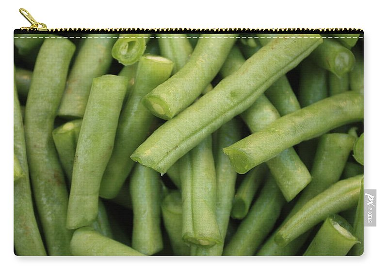 Foods Carry-all Pouch featuring the photograph Green Beans Close-up by Carol Groenen