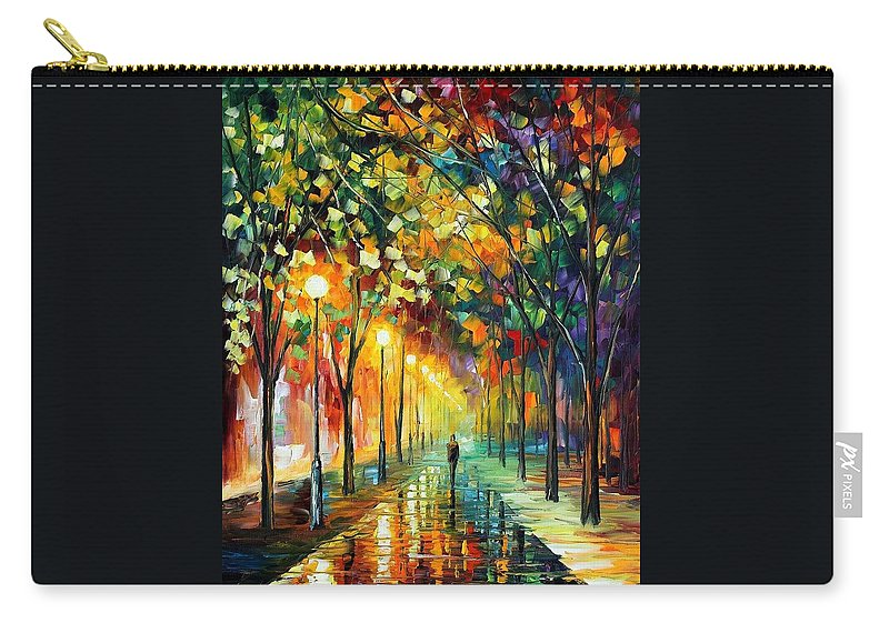 Afremov Carry-all Pouch featuring the painting Green Dreams by Leonid Afremov