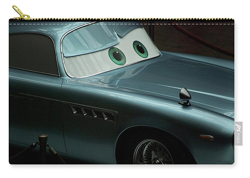 Finn Mcmissile Carry-all Pouch featuring the photograph Green Eyed Finn McMissile MP by Thomas Woolworth