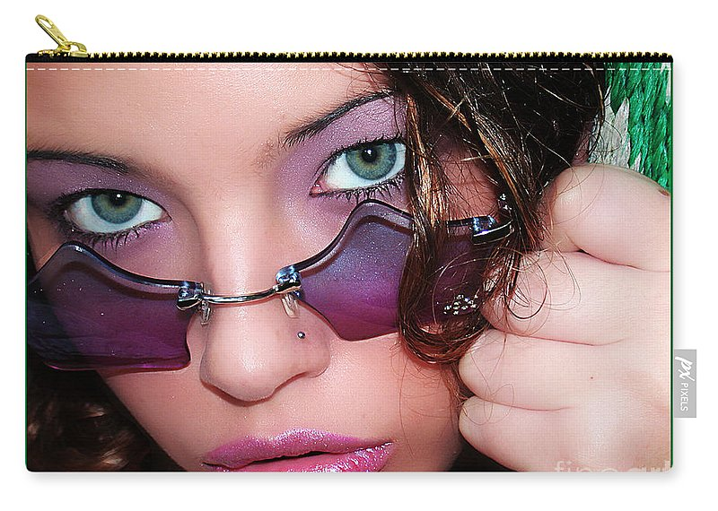 Clay Carry-all Pouch featuring the photograph Green Eye'd Girl by Clayton Bruster