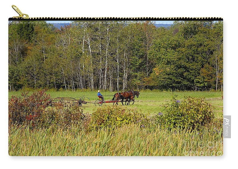 Green Farming Carry-all Pouch featuring the photograph Green Farming by David Lee Thompson