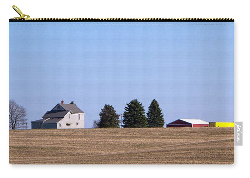Farm Carry-all Pouch featuring the photograph Green Fields Coming by Ann Horn