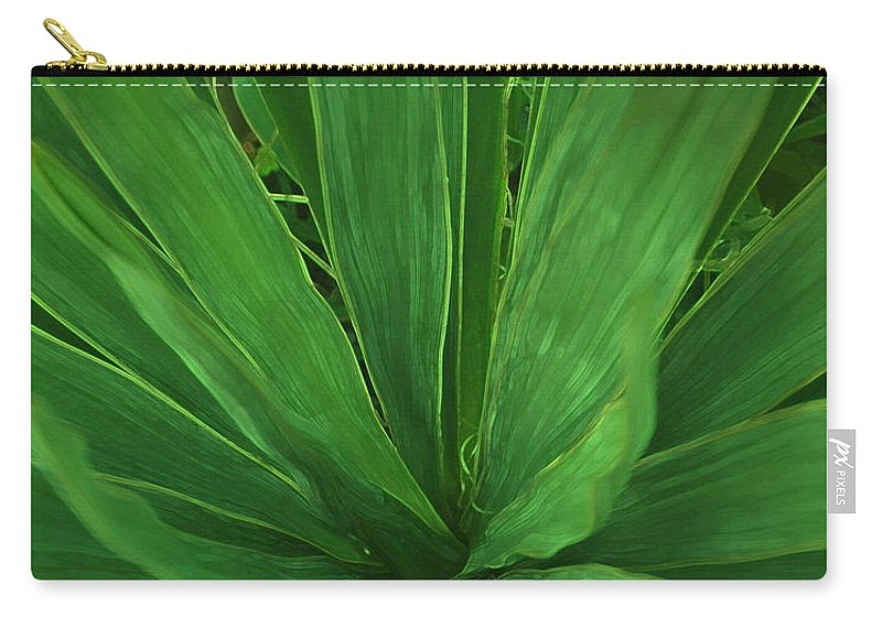 Green Plant Carry-all Pouch featuring the photograph Green Glow by Linda Sannuti