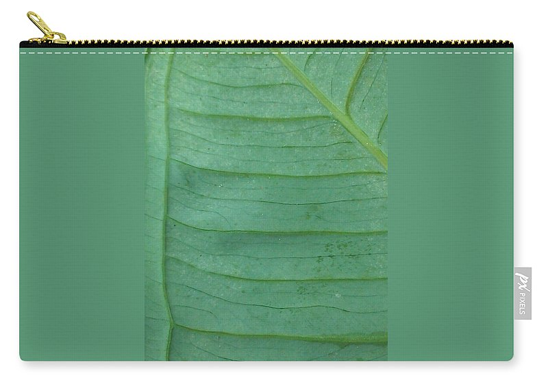 Leaf Carry-all Pouch featuring the photograph Green Leaf 2 by Jennifer Bright