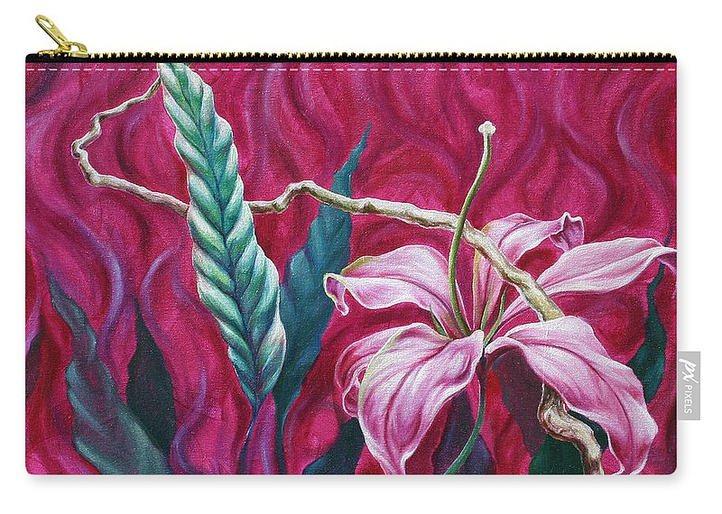 Carry-all Pouch featuring the painting Green Leaf by Jennifer McDuffie