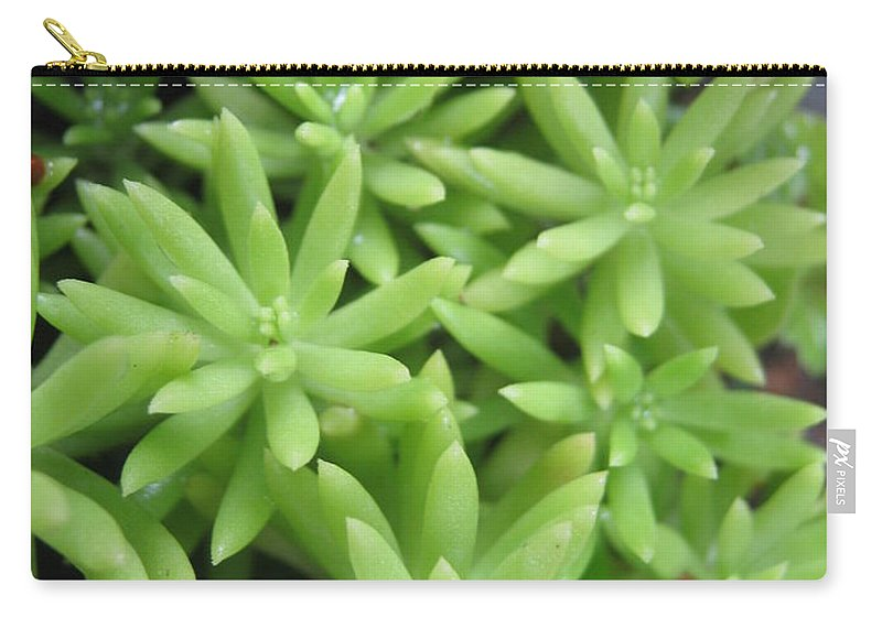 Green Carry-all Pouch featuring the photograph Green Leaves by Sandun Somarathna