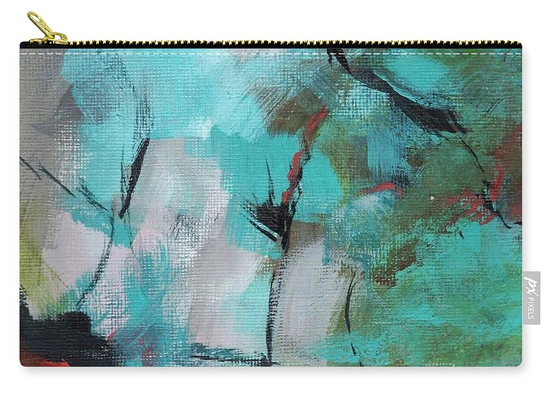 Abstract Carry-all Pouch featuring the painting Blue Man by Suzzanna Frank
