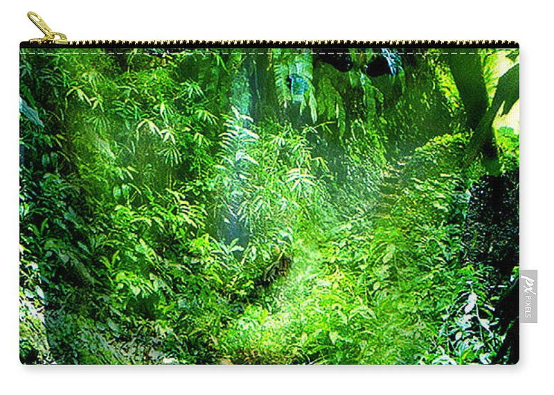 Nature Carry-all Pouch featuring the digital art Green Man by Seth Weaver