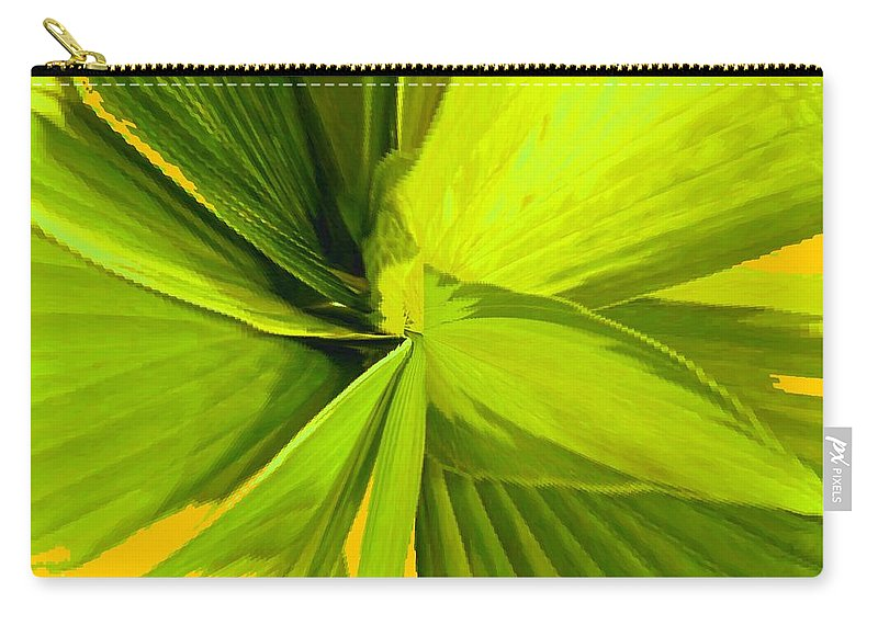 Plant Carry-all Pouch featuring the photograph Green Mosaic by Ian MacDonald