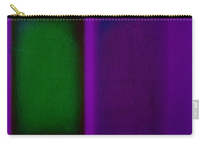 Rothko Carry-all Pouch featuring the painting Green On Magenta by Charles Stuart