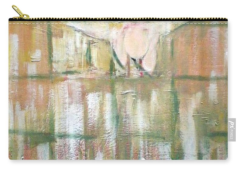 Birds Carry-all Pouch featuring the painting Green Peace by Philip Okoro