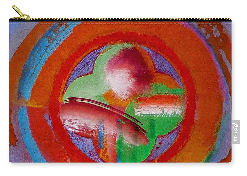 Love Carry-all Pouch featuring the painting Green Planet by Charles Stuart