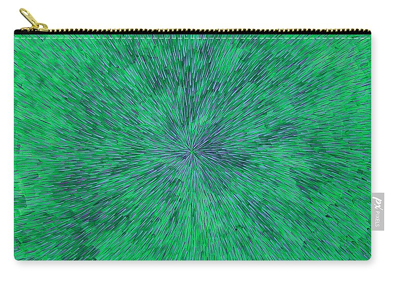 Abstract Carry-all Pouch featuring the painting Green Radation With Violet by Dean Triolo