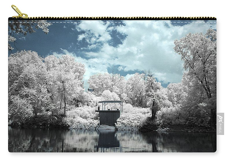 Green Carry-all Pouch featuring the photograph Green River Ir by Amber Flowers