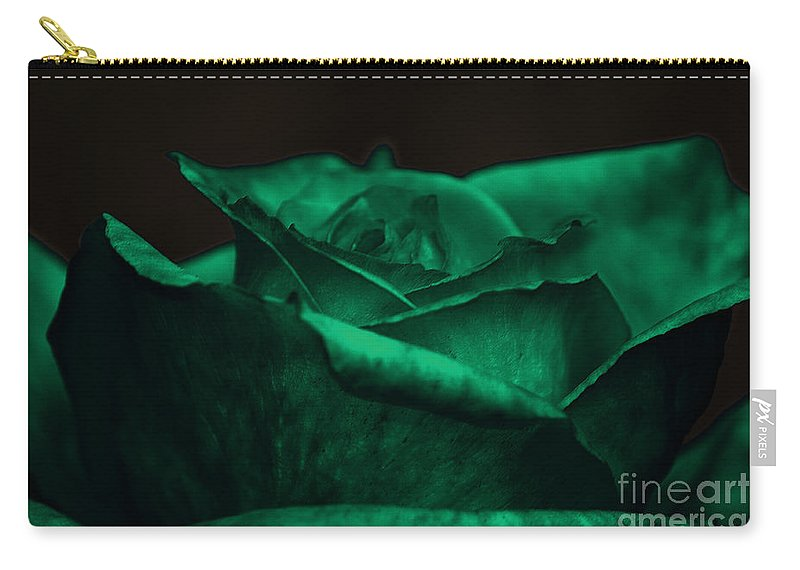Clay Carry-all Pouch featuring the photograph Green Rose by Clayton Bruster