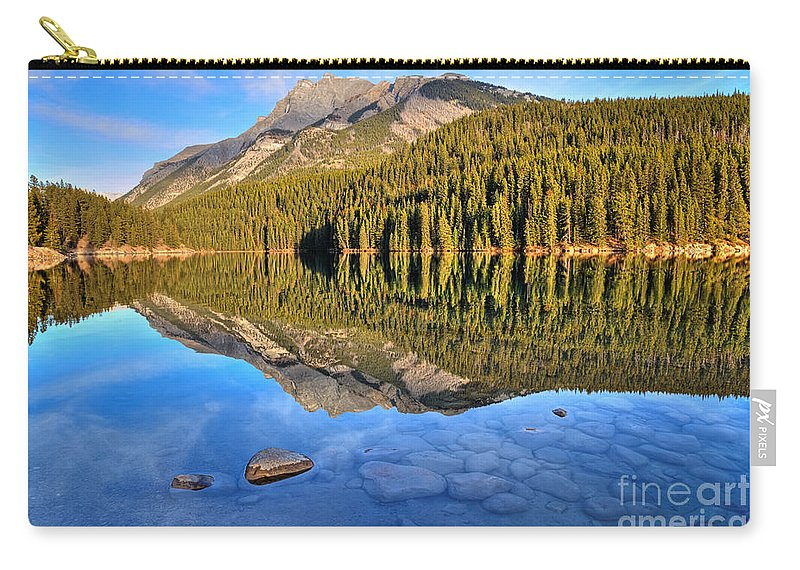 Banff National Park Carry-all Pouch featuring the photograph Green Scene by James Anderson