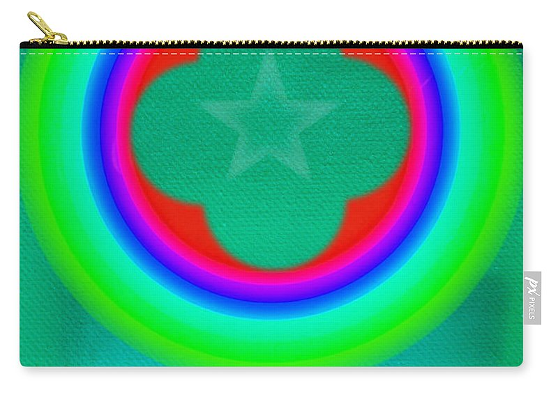 Abstract Carry-all Pouch featuring the painting Green See by Charles Stuart