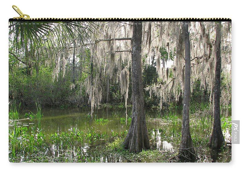 Nature Carry-all Pouch featuring the photograph Green Swamp by Peg Urban