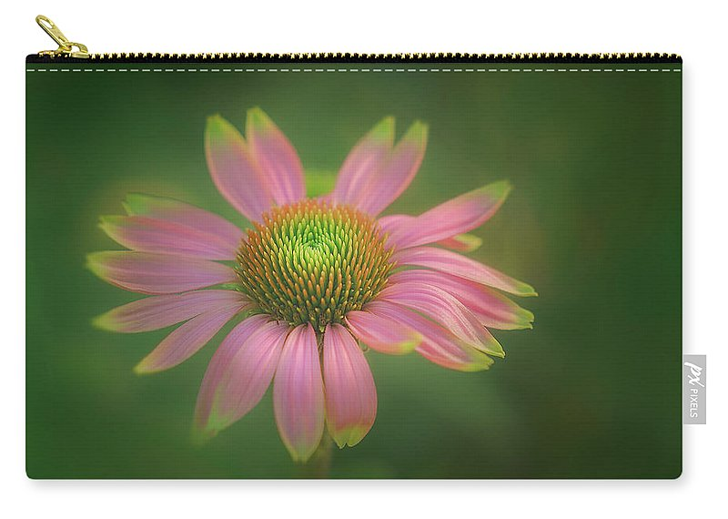 Flower Carry-all Pouch featuring the photograph Green Tipped Coneflower by S A Littau