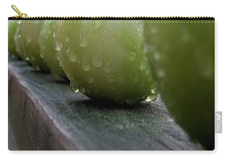 Green Tomato Carry-all Pouch featuring the photograph Green Tomato's by Robert Meanor