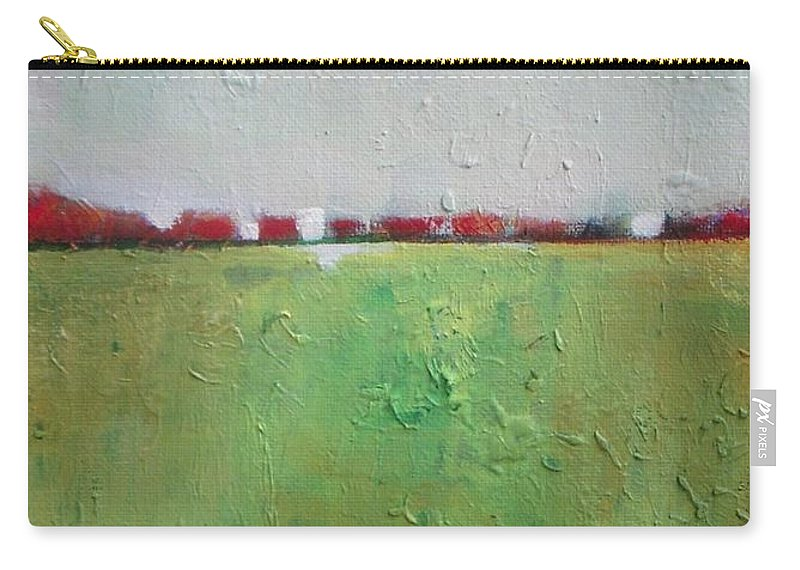 Abstract Carry-all Pouch featuring the painting Green Valley by Vesna Antic