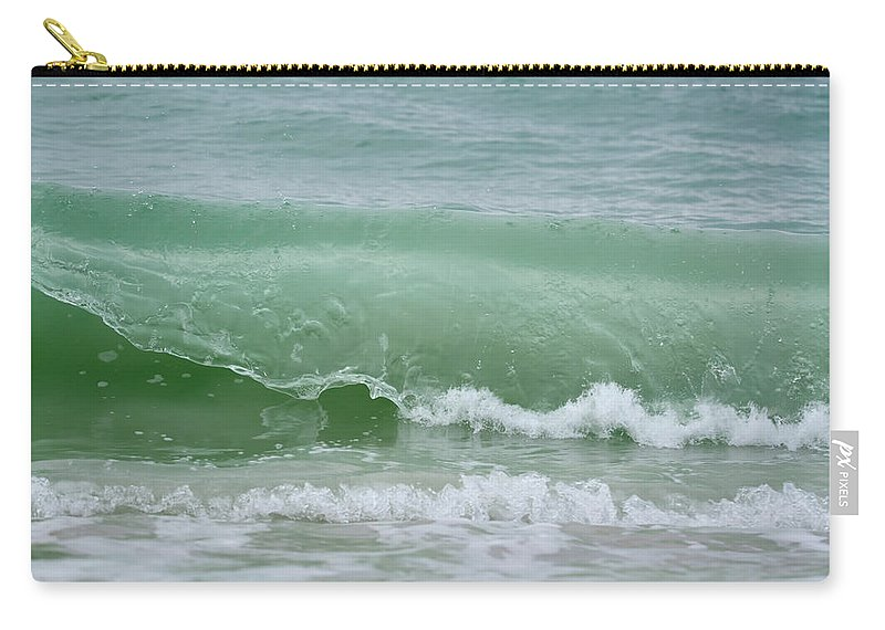Wave Carry-all Pouch featuring the photograph Green Wave by Artful Imagery