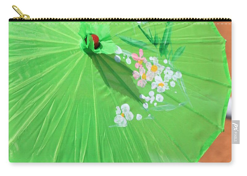 Carry-all Pouch featuring the photograph Green Western Day by Kim Henderson