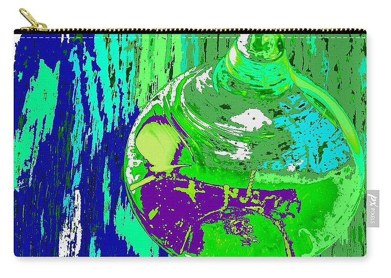 Abstract Carry-all Pouch featuring the photograph Green Whirl by Ian MacDonald