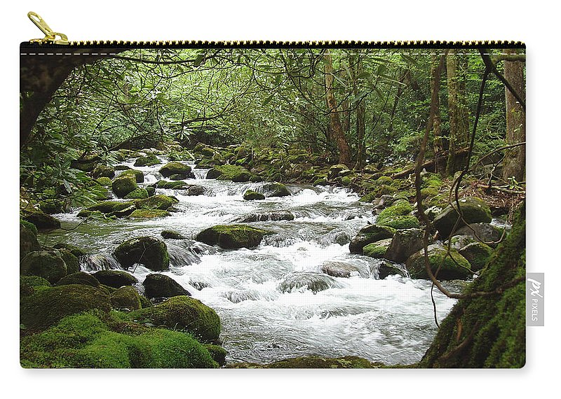 Smoky Mountains Carry-all Pouch featuring the photograph Greenbrier River Scene 2 by Nancy Mueller