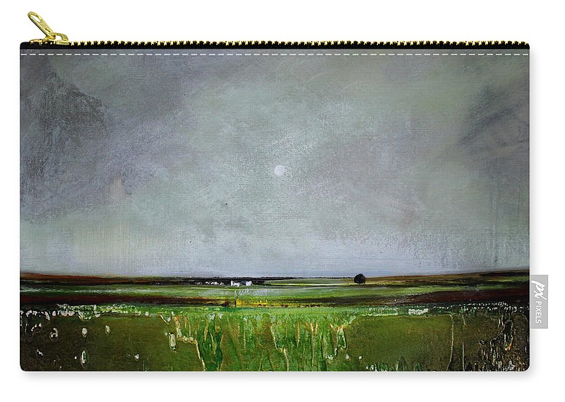 Minimalist Carry-all Pouch featuring the painting Greener Pastures by Toni Grote