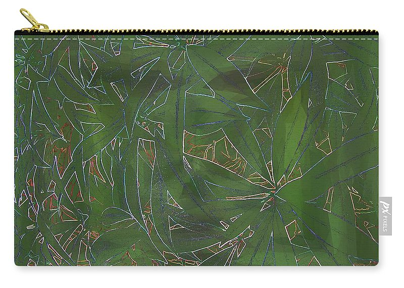 Greenery Carry-all Pouch featuring the digital art Greenery In Green by Tim Allen