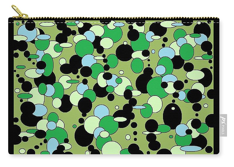 Carry-all Pouch featuring the digital art Greenies by Jordana Sands