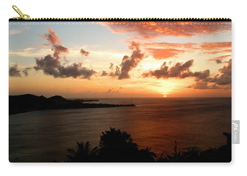 Sunset Carry-all Pouch featuring the photograph Grenadian Sunset II by Jean Macaluso