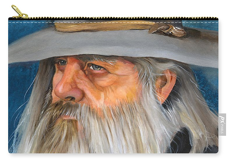 Wizard Carry-all Pouch featuring the painting Grey Days by J W Baker