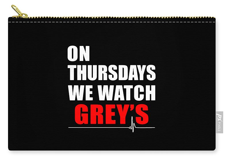Grey's Anatomy Carry-all Pouch featuring the digital art Grey's Anatomy by Dominic Fransisce