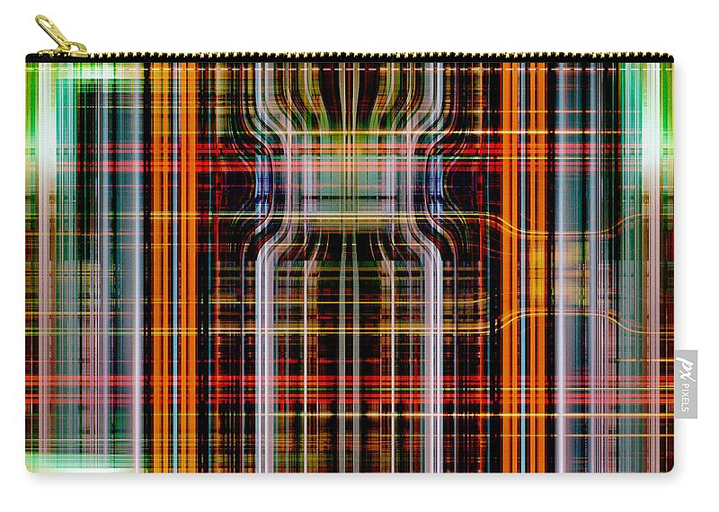 Abstract Carry-all Pouch featuring the digital art Grid 2 by Steve Ball