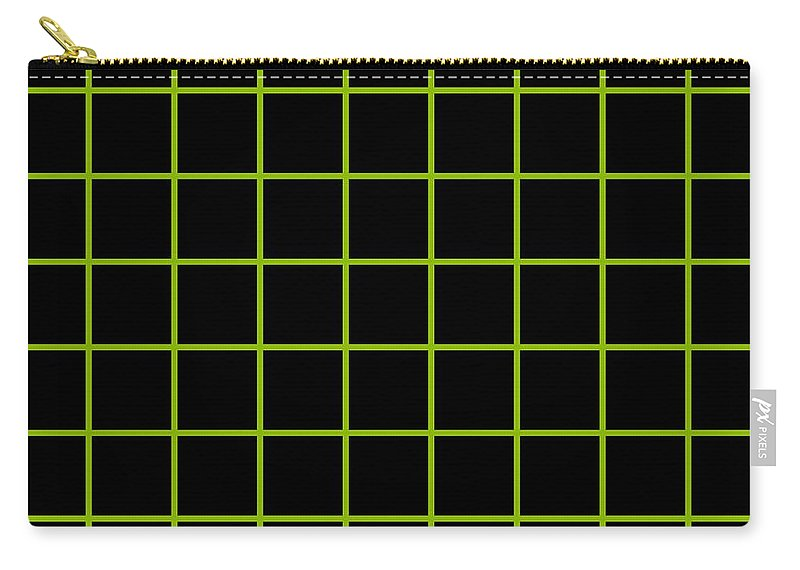 Grid Carry-all Pouch featuring the digital art Grid Boxes In Black 09-p0171 by Custom Home Fashions