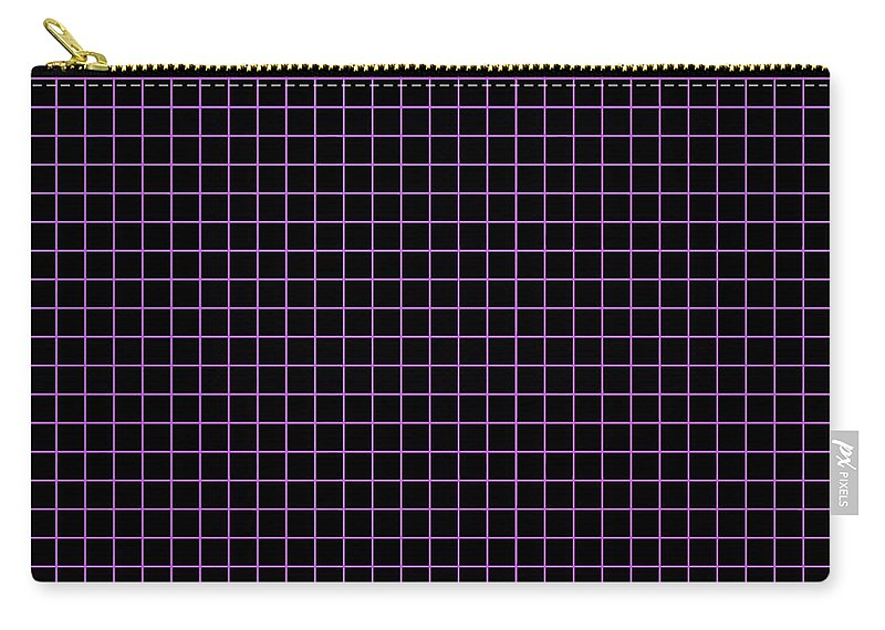 Grid Carry-all Pouch featuring the digital art Grid Boxes In Black 30-p0171 by Custom Home Fashions