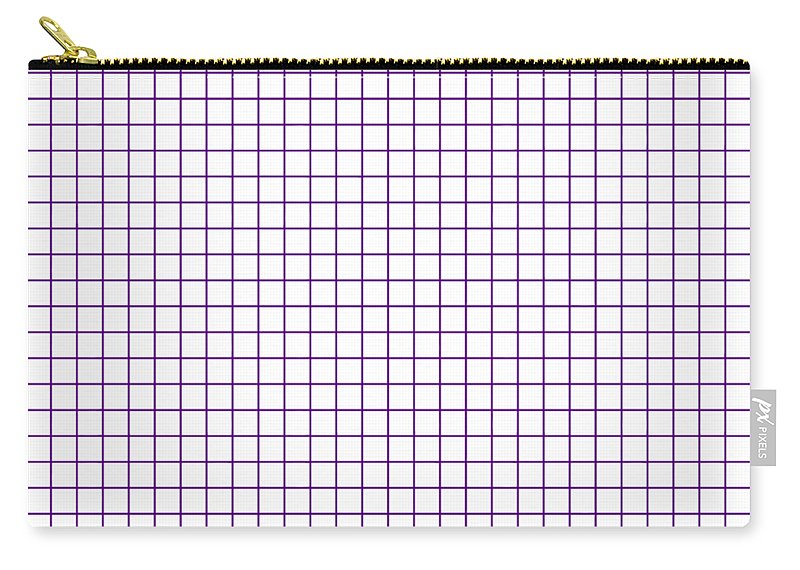 Grid Carry-all Pouch featuring the digital art Grid Boxes In White 30-p0171 by Custom Home Fashions