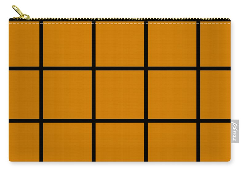 Grid Carry-all Pouch featuring the digital art Grid In Black 05-p0171 by Custom Home Fashions