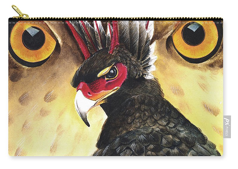 Griffin Carry-all Pouch featuring the painting Griffin Sight by Melissa A Benson