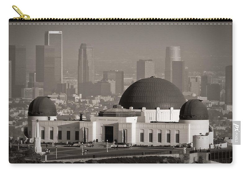 3scape Carry-all Pouch featuring the photograph Griffith Observatory by Adam Romanowicz