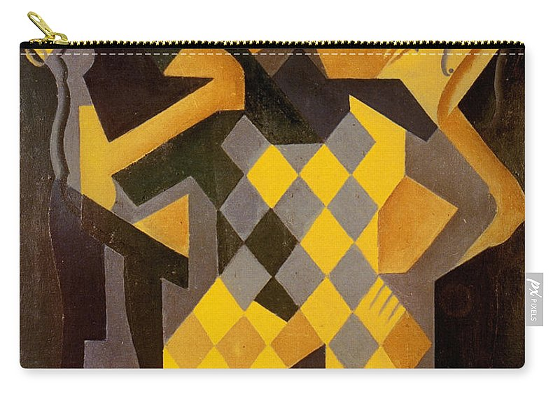 1919 Carry-all Pouch featuring the photograph Gris: Harlequin by Granger