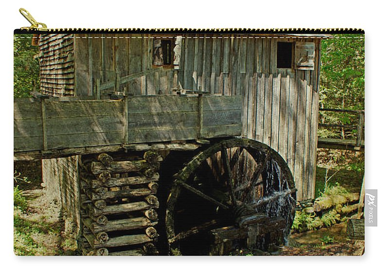 Grist Mill Carry-all Pouch featuring the photograph Grist Mill by Sandy Keeton